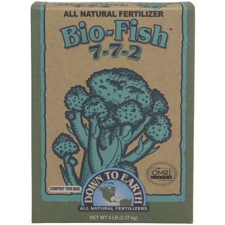 Down To Earth 07842 5 Lb Bio Fish All Natural Fertilizer 7 7 2