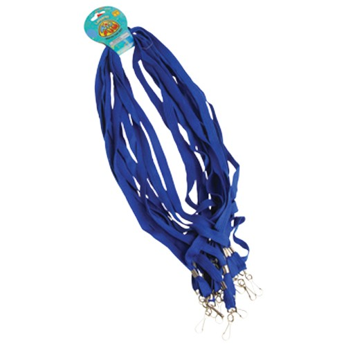 Lot of 12 Blue Keychain Lanyards School Colors Party Favors