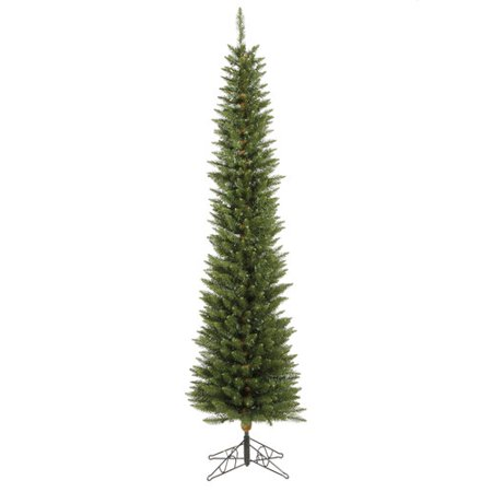 Vickerman 5.5' Durham Pole Artificial Christmas Tree with 150 Multi-Colored LED Lights
