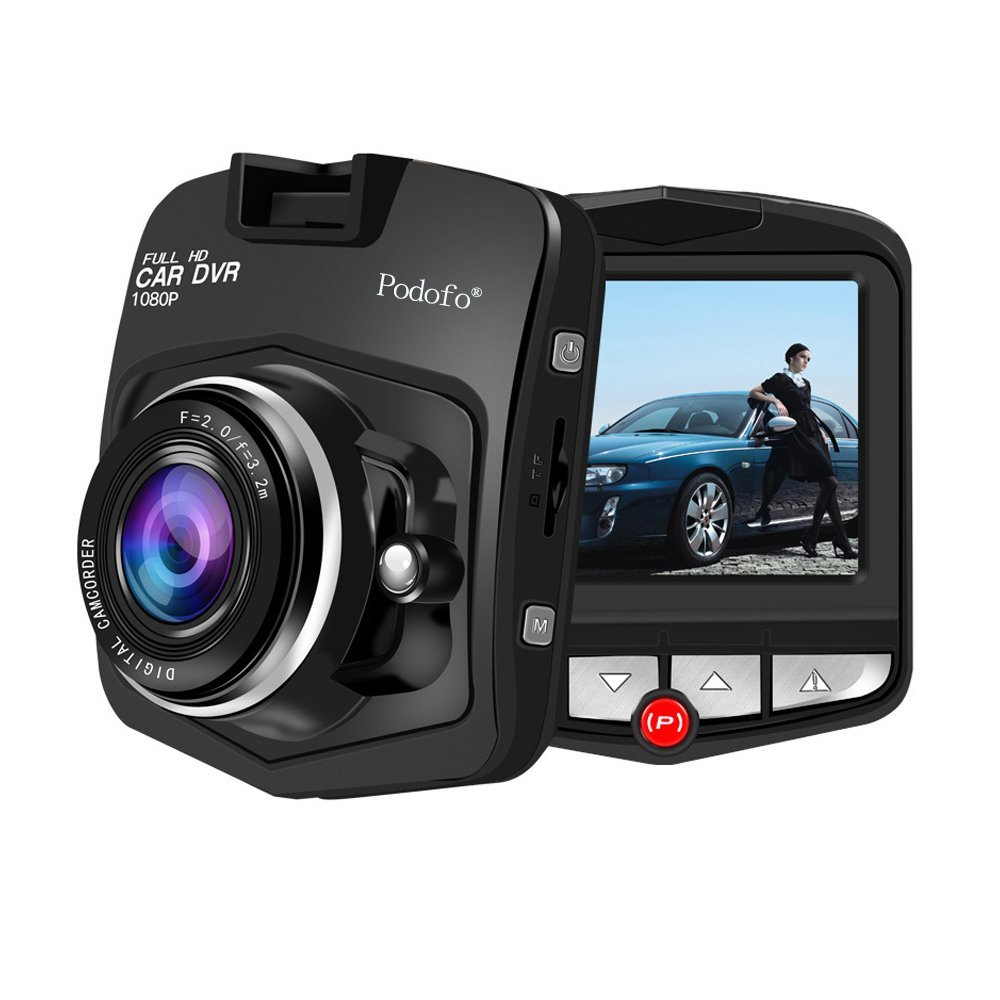 Podofo Mini GT300 Dashcam A8 Car Dvr Camera Dvrs Full HD 1080P Recorder Video Registrator Night Vision Box Carcam Dash Cam (Black)