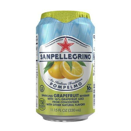 San Pellegrino Sparkling Fruit Beverage, Grapefruit, 11.1 Fl Oz, 24 Count