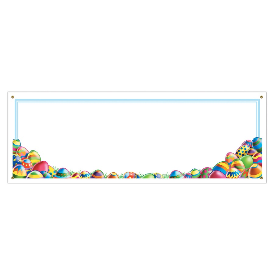 Pack of 12 Easter Egg Hunt Sign Banners Party Decorations 5