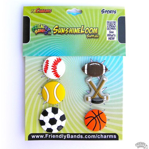 Friendly Bands Sunshine Charms, 6pk, Sports