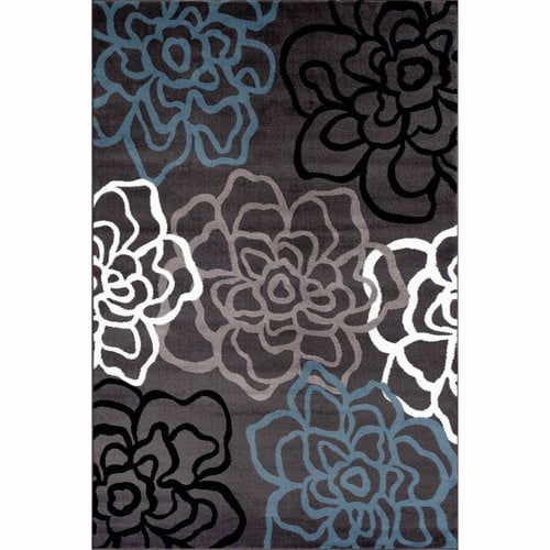 World Rug Gallery Contemporary Modern Floral Flowers Area Rug by World Rug Gallery