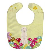 Carolines Treasures BB6065BIB Easter Eggs Irish Wolfhound Baby Bib