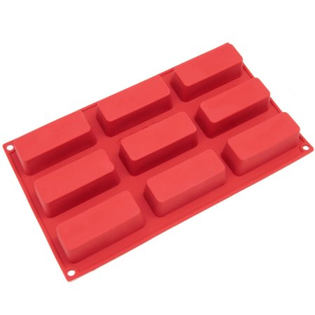 Freshware 9-Cavity Narrow Loaf Silicone Mold for Muffin, Brownie, Cupcake, Cheesecake and Pudding, SL-113RD - Halloween Cheesecake Cupcakes