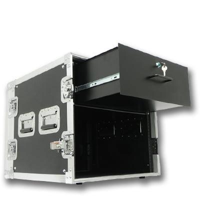 Seismic Audio 10 SPACE RACK CASE WITH 4U LOCKING DRAWER Amp Effect Mixer PA/DJ PRO Black - SAR10rd4u