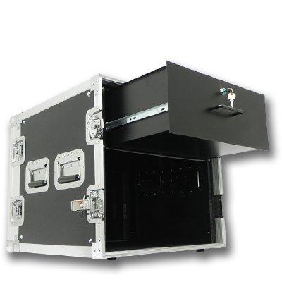 Seismic Audio 10 SPACE RACK CASE WITH 4U LOCKING DRAWER Amp Effect Mixer PA/DJ PRO - SAR10rd4u