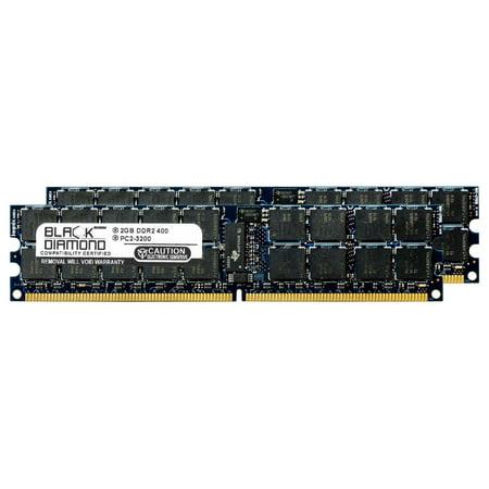 4GB 2X2GB Memory RAM for HP ProLiant Series DL580 G4 DDR2 RDIMM 240pin PC2-3200 400MHz Black Diamond Memory Module Upgrade ()