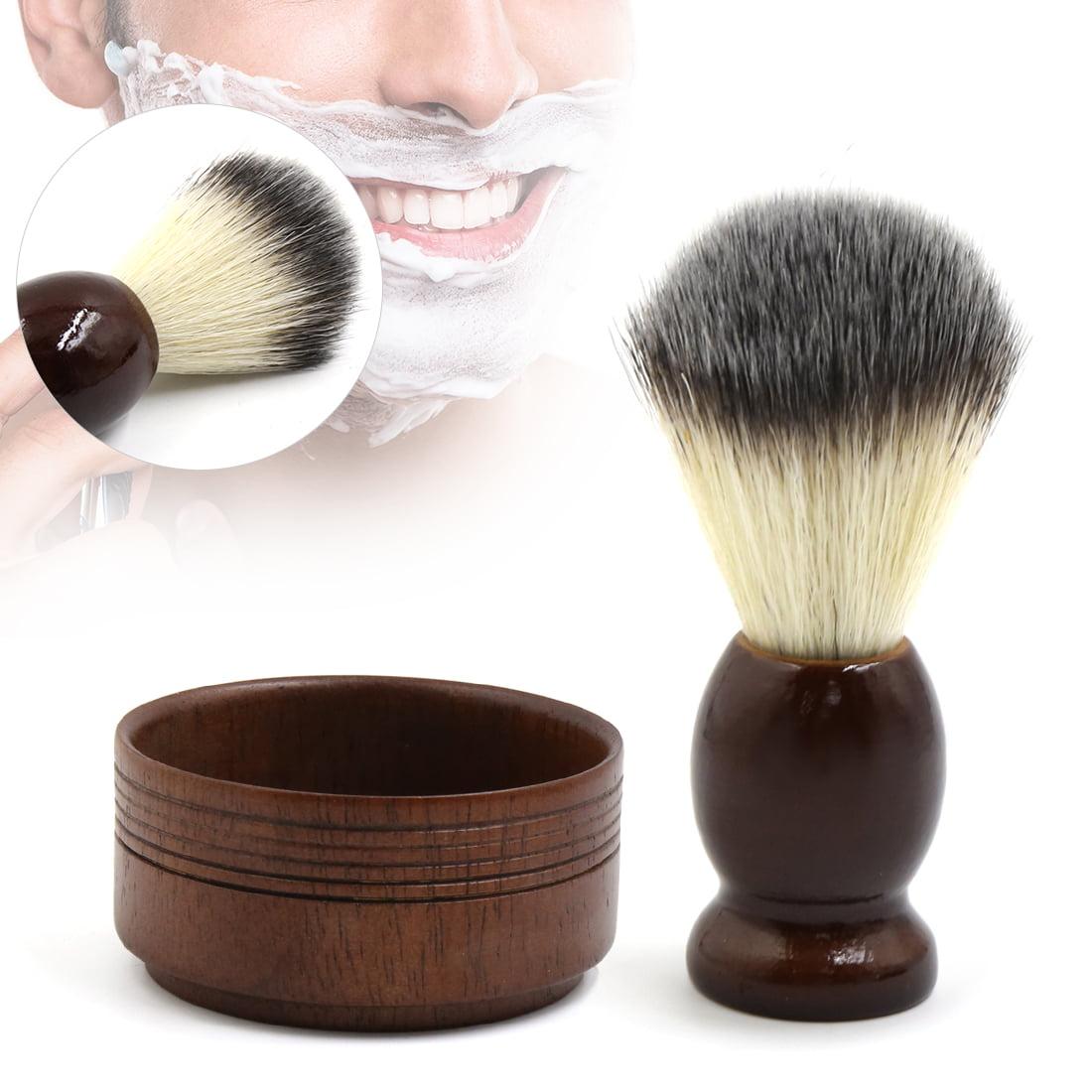 Mens Vintage Badger Hair Shaving Brush And Mug Bowl Kit For Wet