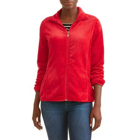 Women's Long Sleeve Mock Neck Cozy Fleece Jacket Batting Cage Long Sleeve Jacket