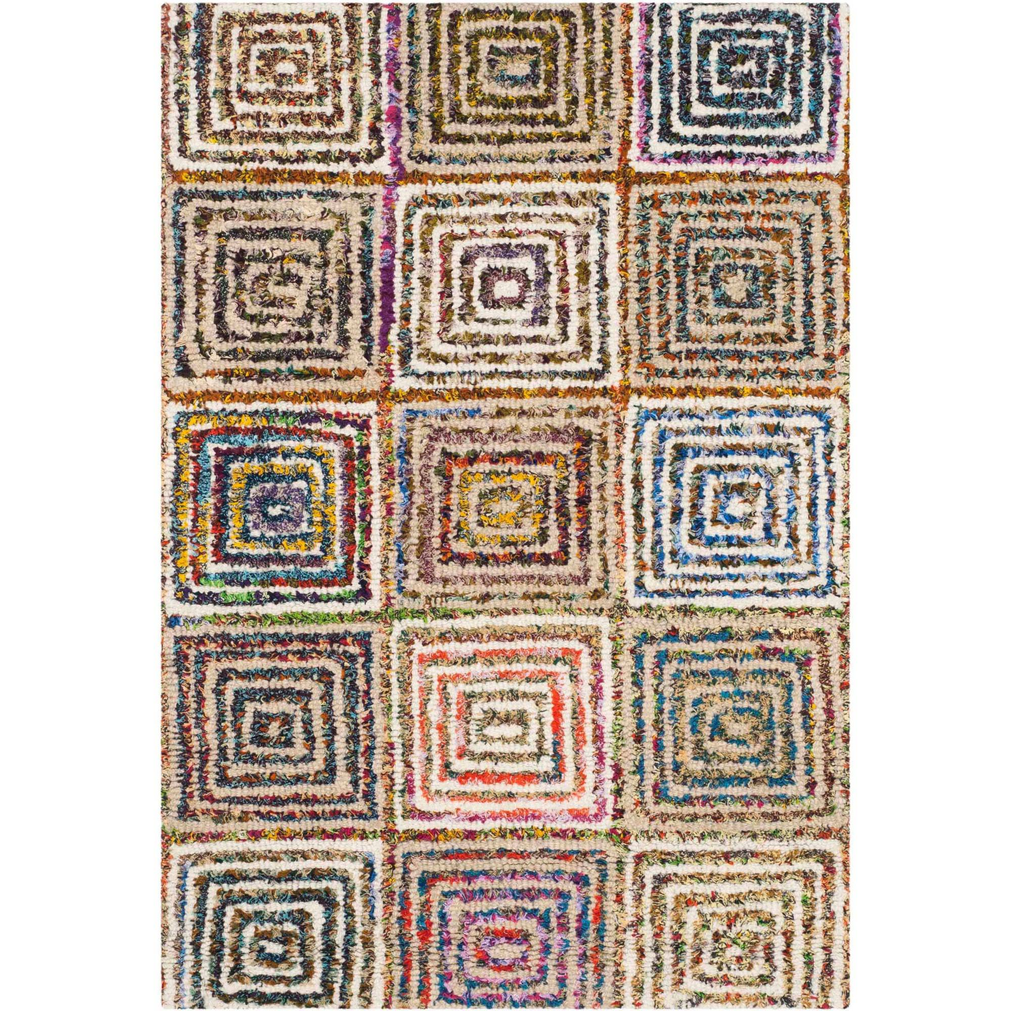 Safavieh Nantucket Euanthe Hand-Tufted Cotton Area Rug, Cream/Multi