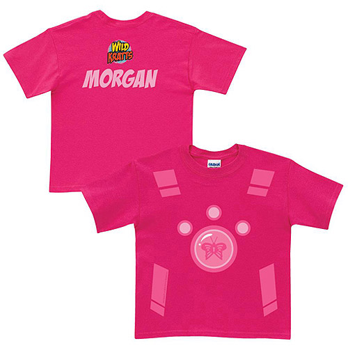 Personalized Wild Kratts Creature Power Suit Toddler Girl Pink T-Shirt