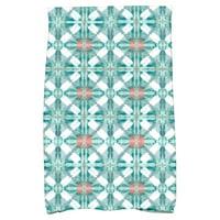 Simply Daisy Tile Geometric Print Hand Towel