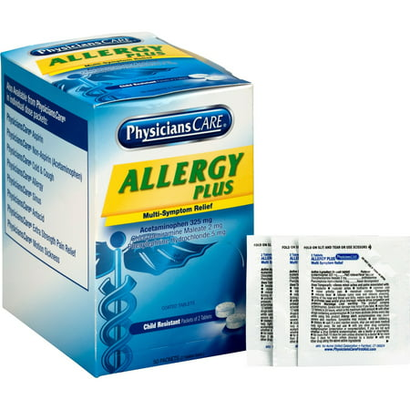 PhysiciansCare, ACM90091, Allergy Plus Medication, 50 /