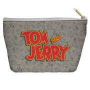 Tom And Jerry Logo Accessory Pouch White 8.5X6