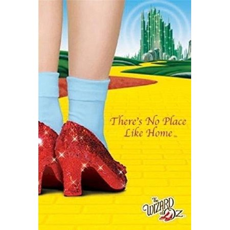 - Wizard of Oz Movie Threes No Place Like Home   Ruby Shoes   36x24 Movie Art Poster Print   Classic Movie