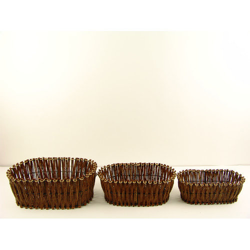 Firefly Home Collection Stem Basket (Set of 3)