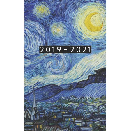 2019 - 2021: Weekly Planner Starting September 2019 - August 2021 - 5 x 8 Dated Agenda - 24 Month Appointment Calendar - Organizer Book - Soft-Cover Van Gogh Starry Night