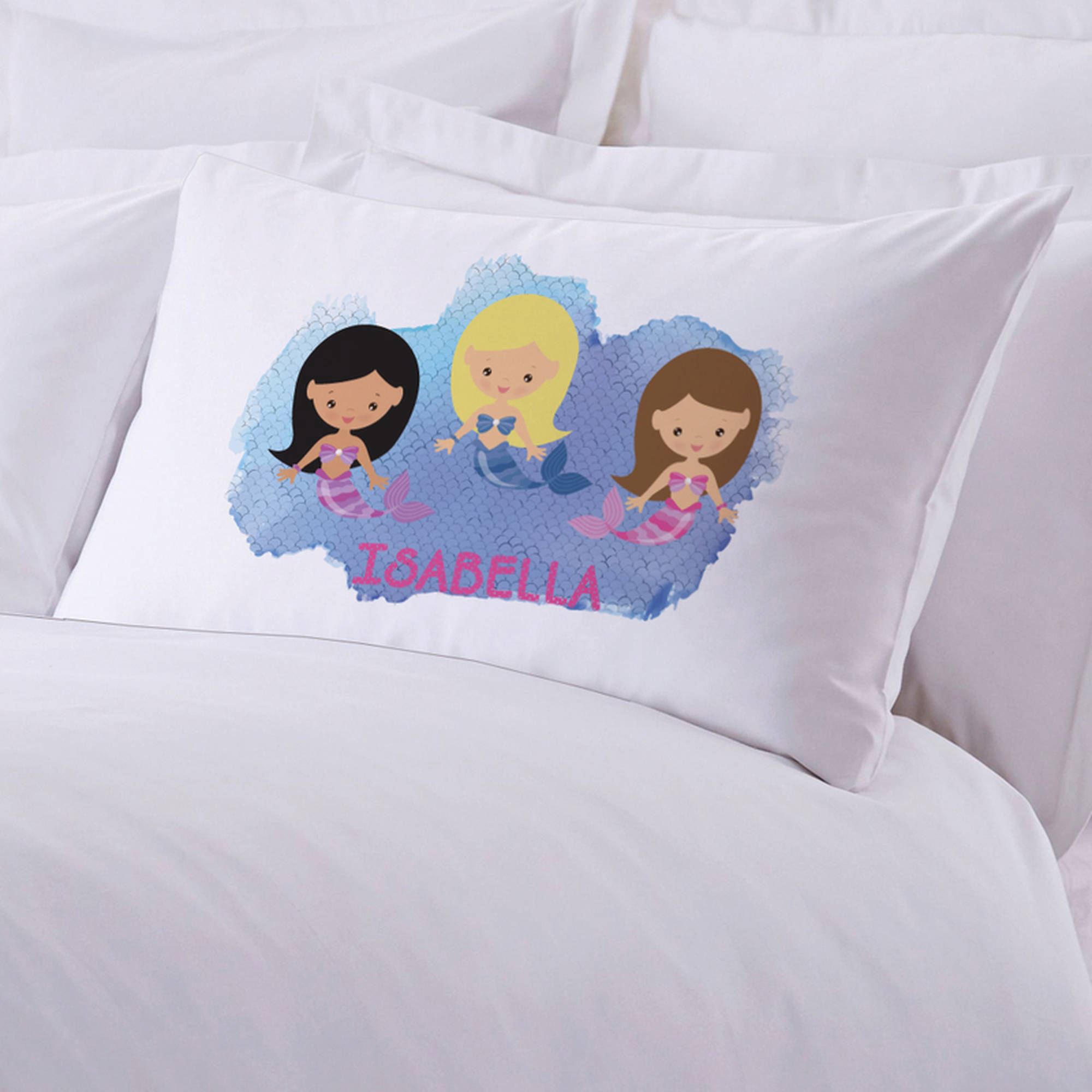 "Personalized Kids Mermaid Friends Pillow Case, 20"" x 30"""