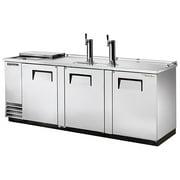 "True TDD-4CT 90"" Club Top Direct Draw Draft Beer Dispenser 3 Solid Swing Doors, 1 Shelf, 4 Keg Capacity"