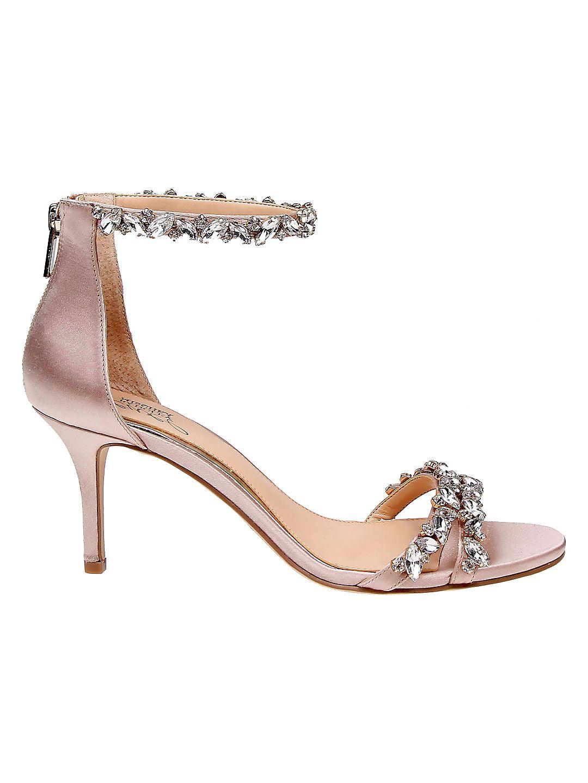 Caroline Embellished Satin Sandals
