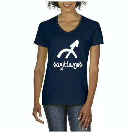 dd4533acb2d Artix - Novelty T-Shirt Horoscope Sagittarius Artix Women s V-Neck T-Shirt  Tee Clothes - Walmart.com