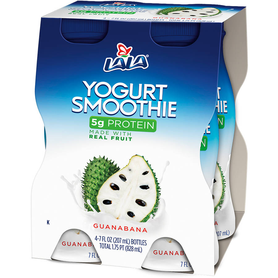 LALA Drinkable Yogurt, Guanabana, 7-oz, 4 Count
