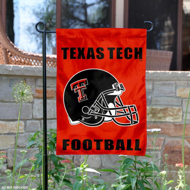 "Texas Tech Red Raiders Football Helmet 13"" x 18"" College Garden Flag"