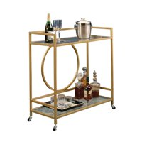 Kingfisher Lane Bar Cart in Satin Gold