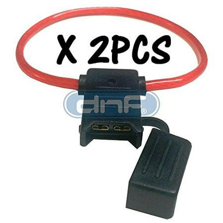 Pack of 2PCS 100% Copper 8 Gauge ATC Waterproof Inline Fuse (Waterproof Fuse Panel)