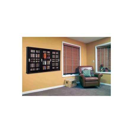 Mission Style Wall - Wall Mounted Sliding Door Mission Style Media Storage