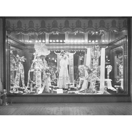 Window Display of Ribbons, Gimbel's Department Store, New York City, March 10, 1915 Print Wall Art By William Davis - Halloween Window Displays New York