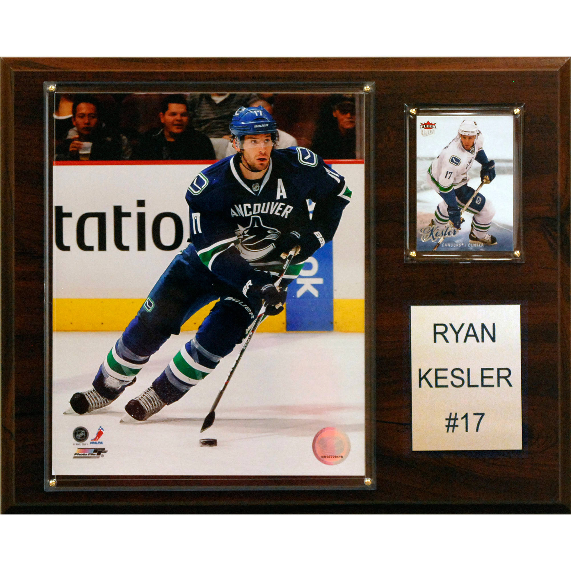 C&I Collectables NHL 12x15 Ryan Kessler Vancouver Canucks Player Plaque