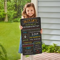Personalized First Day Of School Chalkboard