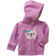Newborn Baby Girls' Fleece and Sherpa Hoodie