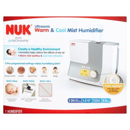 Nuk con Bionaire ultrasónico caliente y humidificador de vapor frío