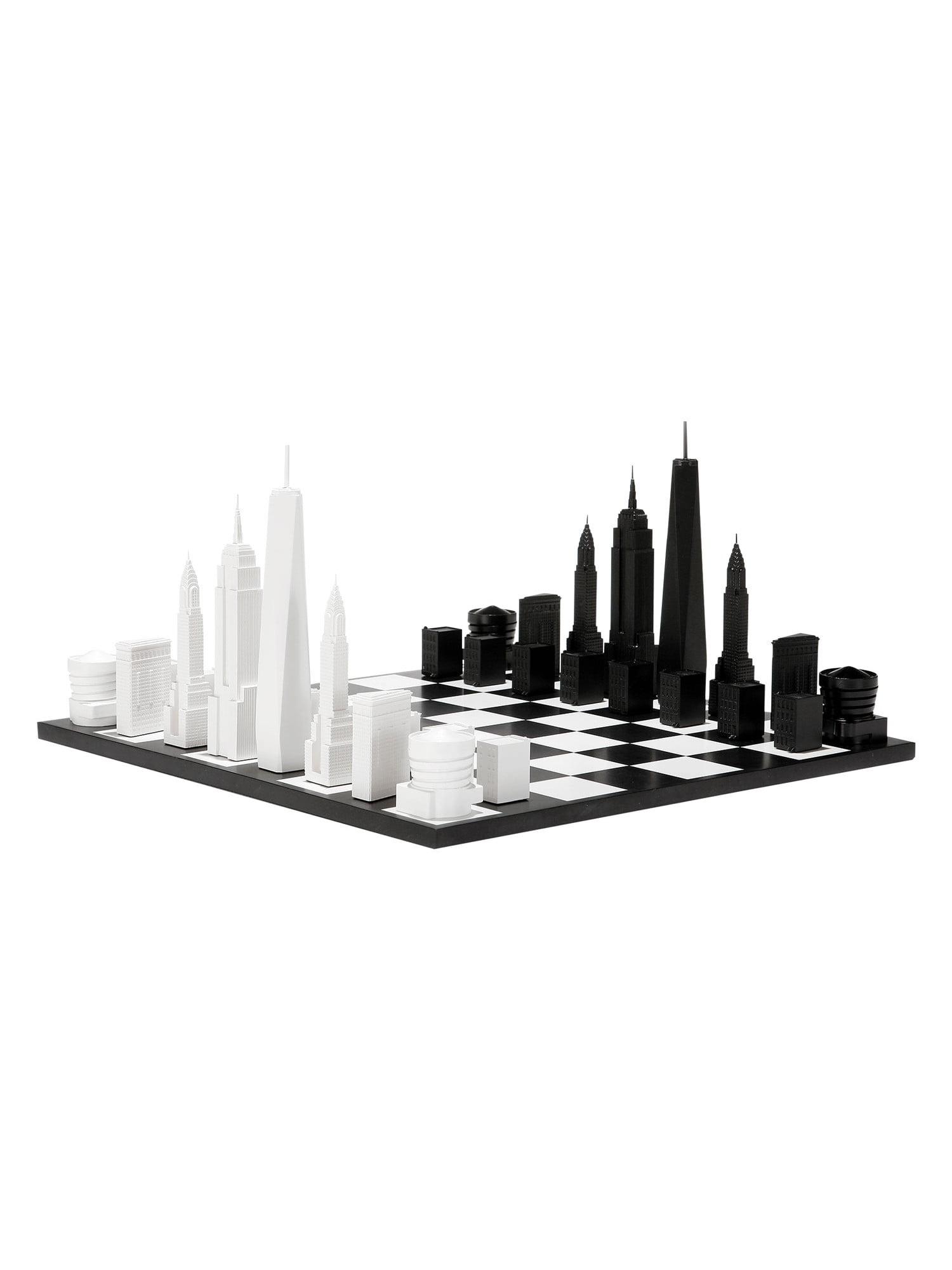 "Skyline Chess Set New York City Manhattan Buildings as Pieces 8"" Tall King by SKYLINE CHESS"