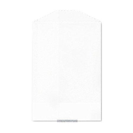 Flat Paper Bags (50 White Flat Little Bitty Paper Bags 2.75 x 4)