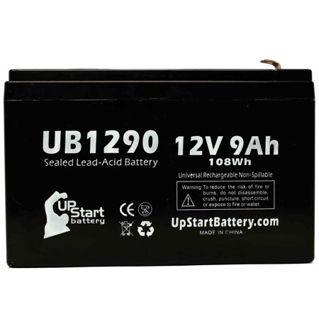 Belkin BU3DC000-12V Battery Replacement - UB1290 Universal Sealed Lead Acid Battery (12V, 9Ah, 9000mAh, F1 Terminal, AGM, SLA) - Includes TWO F1 to F2 Terminal Adapters - image 2 of 4