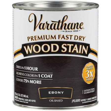 Varathane 269395 1 Quart Ebony Fast Dry Wood Stain