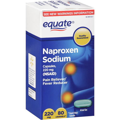 Equate Naproxen Sodium Pain Reliever/Fever Reducer 220mg, 80ct