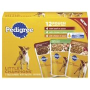 PEDIGREE LITTLE CHAMPIONS Grilled Flavors in Sauce Variety Pack Wet Dog Food 5.3 oz. (Pack of 12)
