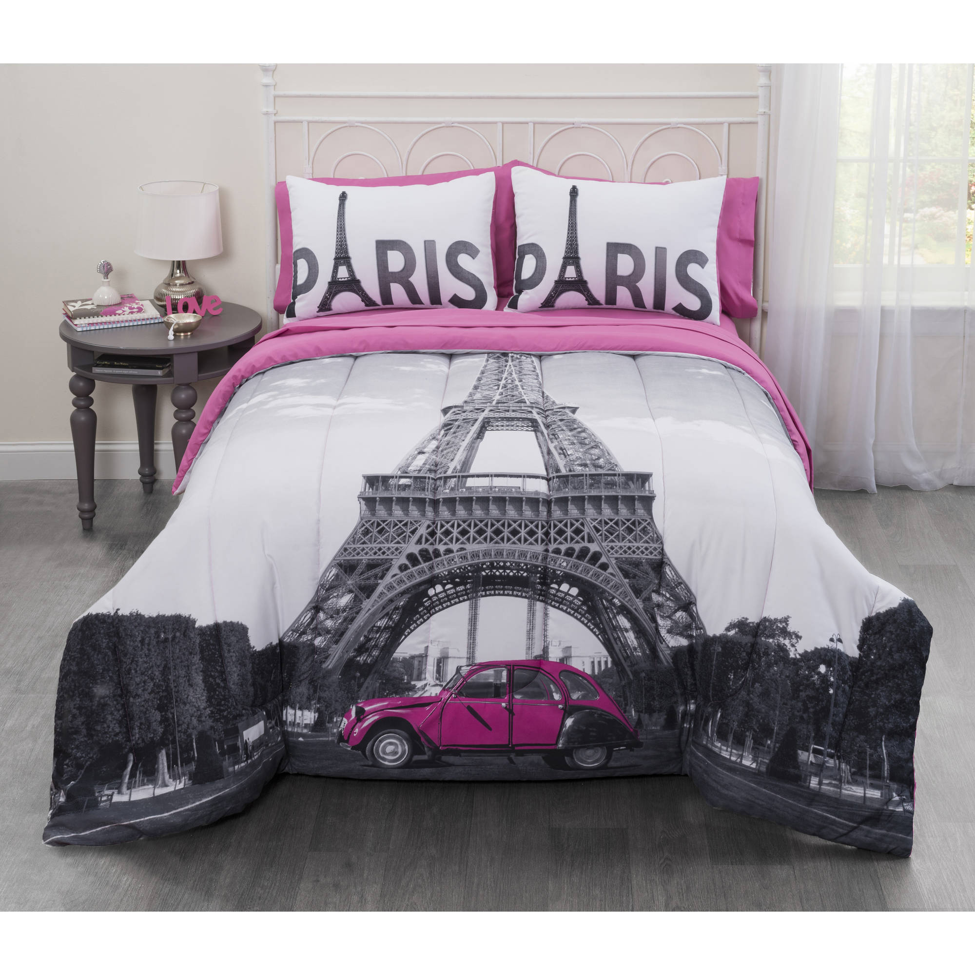 Casa Photo Real Paris Eiffel Tower Bed in a Bag Bedding Set
