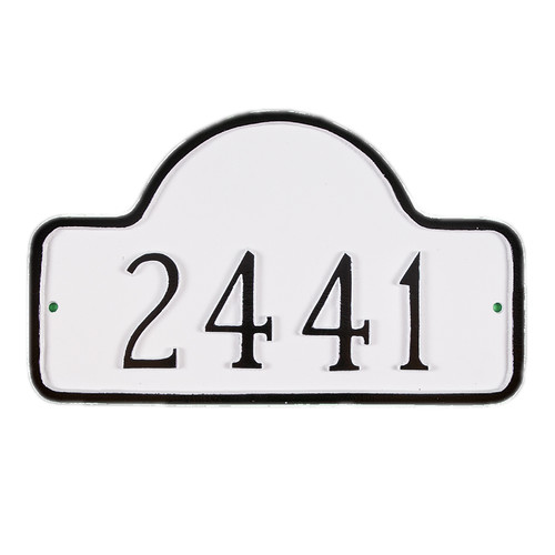 Montague Metal Products Inc. Petite Lexington Arch Address Plaque