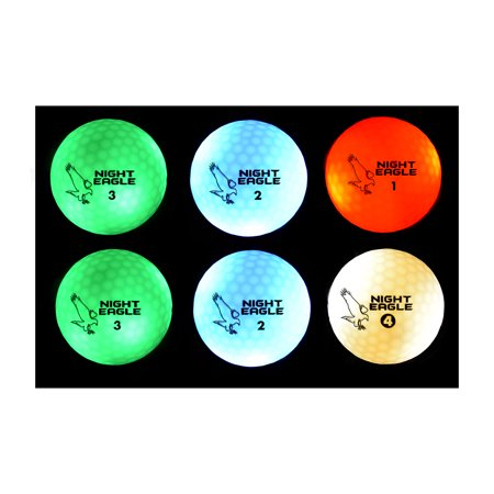 Night Eagle CV LED Golf Balls - Light Activated - No Timer - 6 - Golf Ball Led