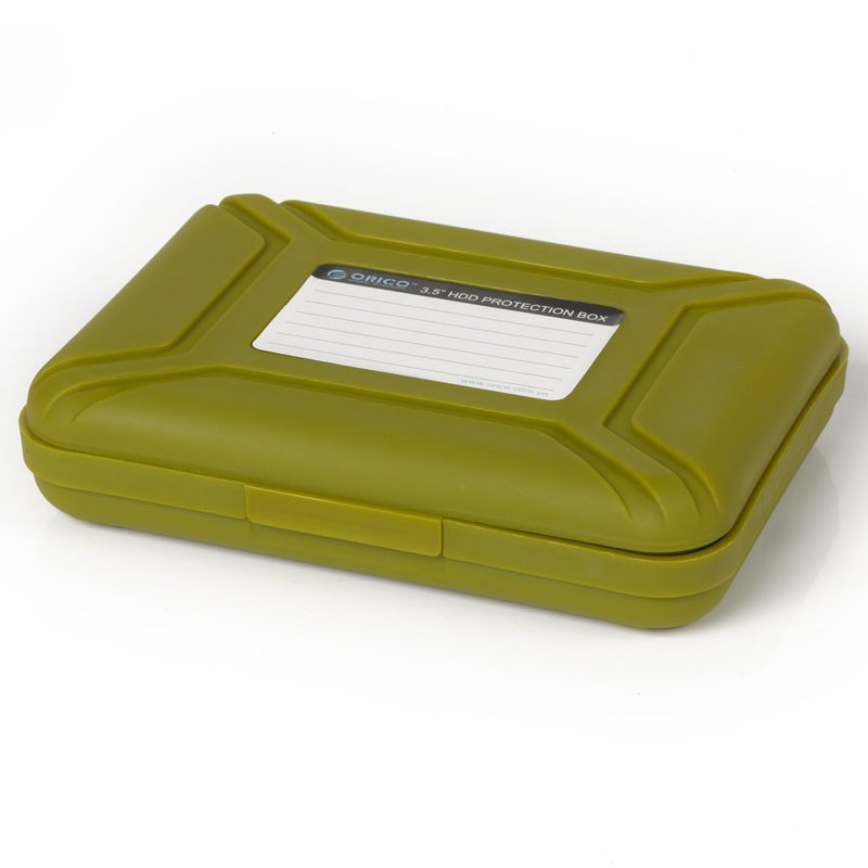"""Orico PHX-35-SN Green Protective 3.5"""" inch Hard Drive Case Enclosure Protector"""