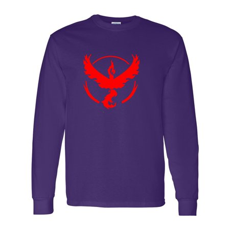 Pokemon Team Valor Red Boys Girls Long Sleeve (Game Boy Pokemon Gold)