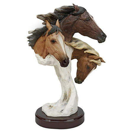 Design Toscano Racing the Wind Wild Horse Statue by Samuel Lightfoot: Large (Horse Racing Photo)