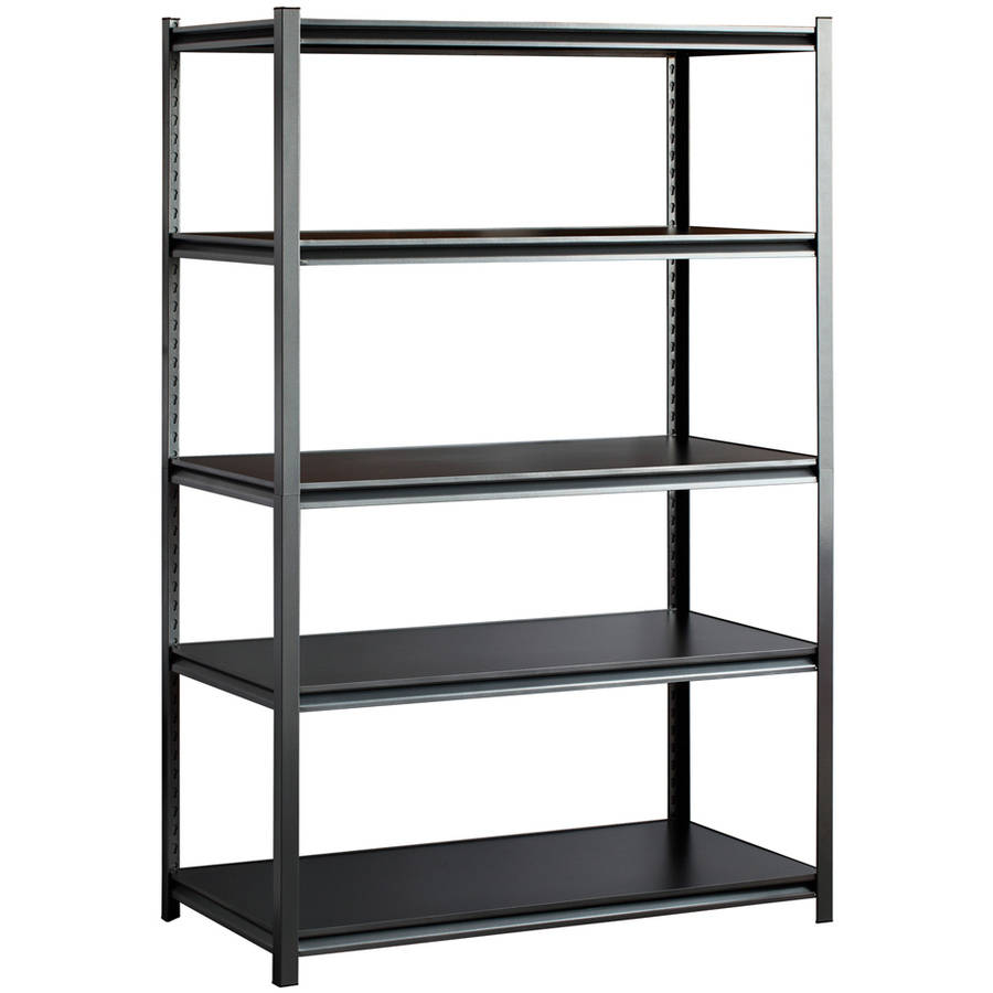 "Edsal 48""W x 24""D x 72""H Five-Shelf Heavy-Duty Steel Shelving Unit, Silver-Vein"